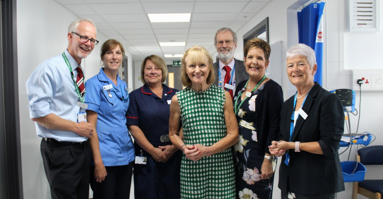 Staff honouring former chief executive of West Suffolk Hospital, Johanna Finn, in the newly refurbished urology department.