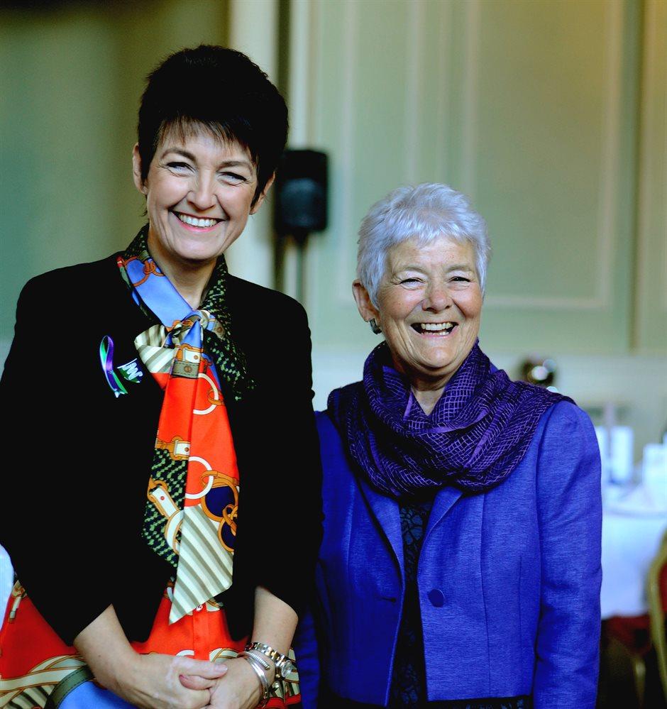Local MP Jo Churchill and Trust chair Sheila Childerhouse