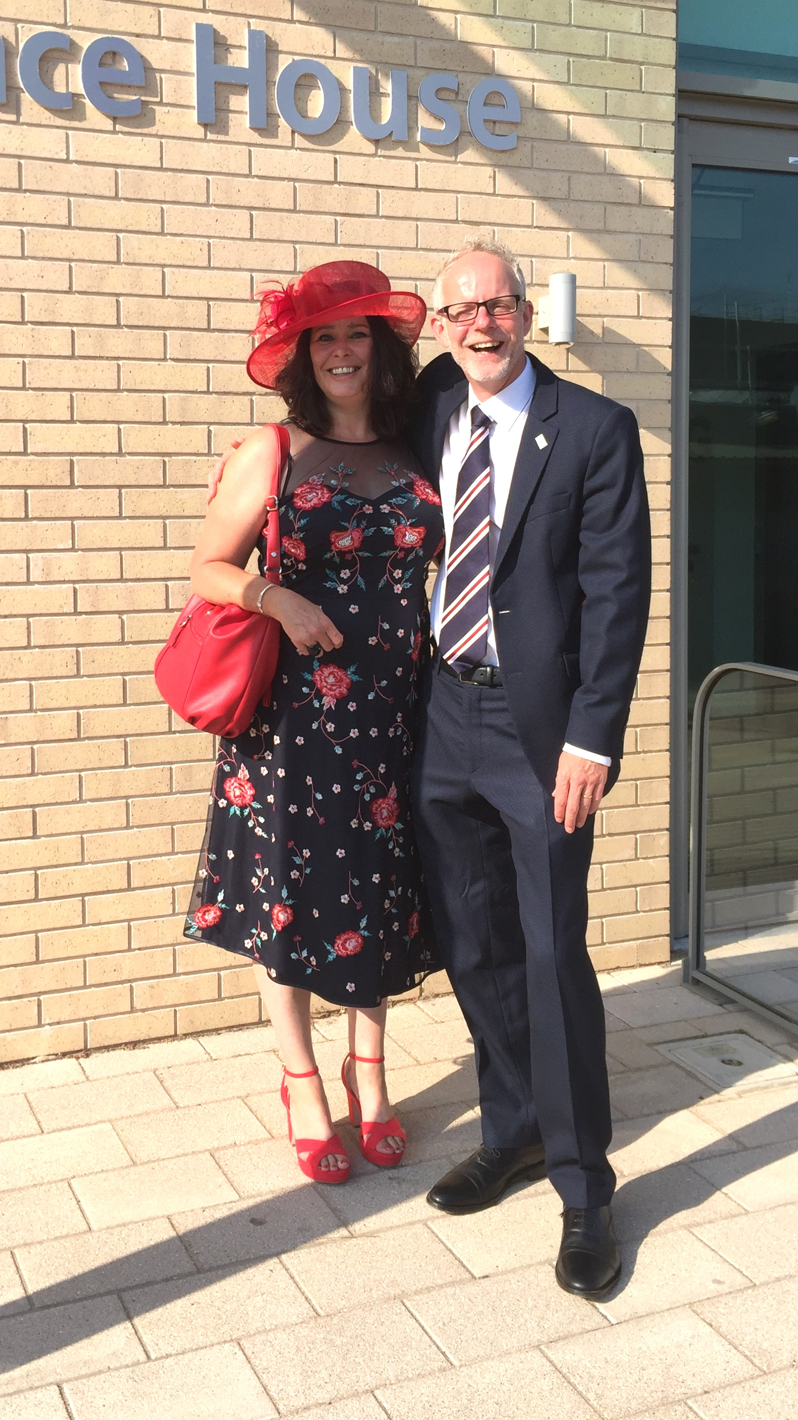 From left to right: Tracey Green, mortuary and bereavement services manager at WSFT, and Stephen Dunn, chief executive of WSFT, ready to attend the NHS70 service at Westminster Abbey.