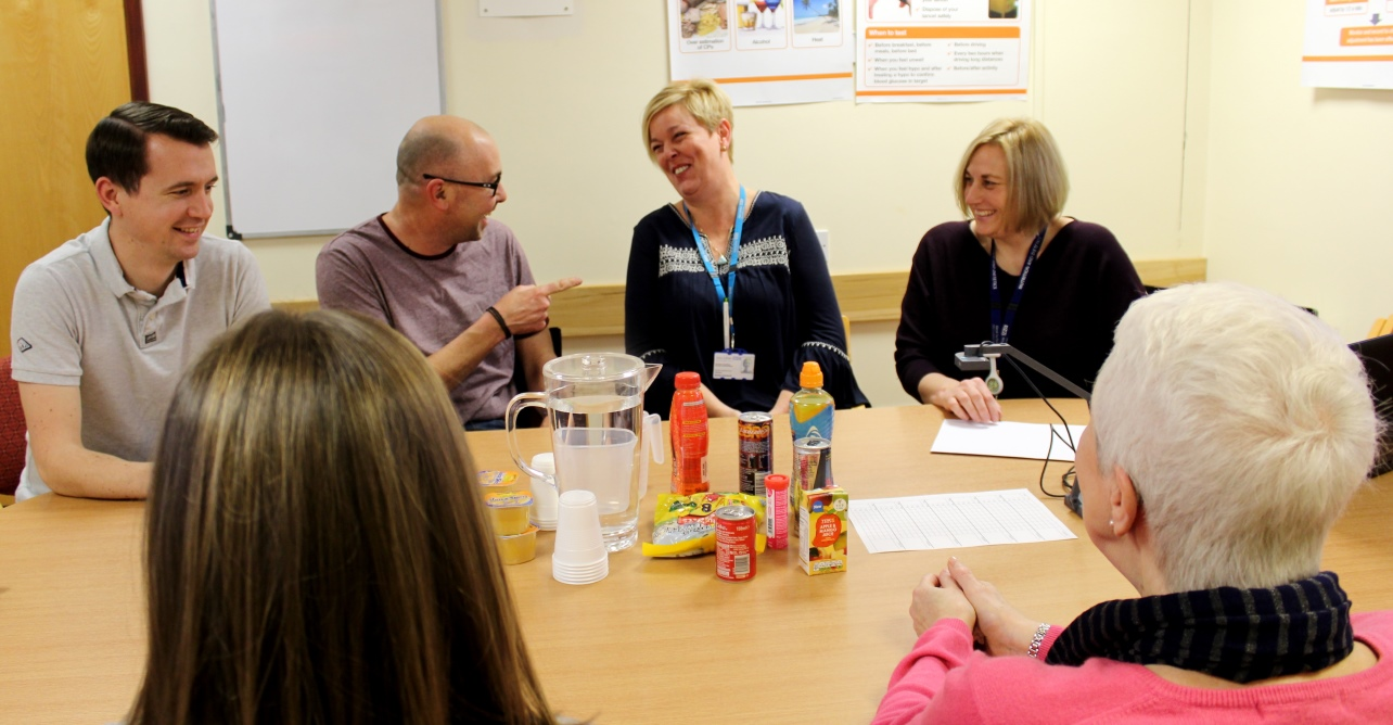 Patients attending a Type 1 diabetes management course at West Suffolk Hospital