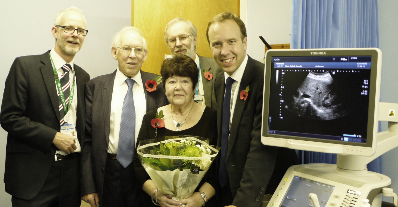 New Haverhill ultrasound service officially opened by local West Suffolk MP and Secretary of State for Health and Social Care, Matthew Hancock, and fundraiser Mrs Betty McLatchy