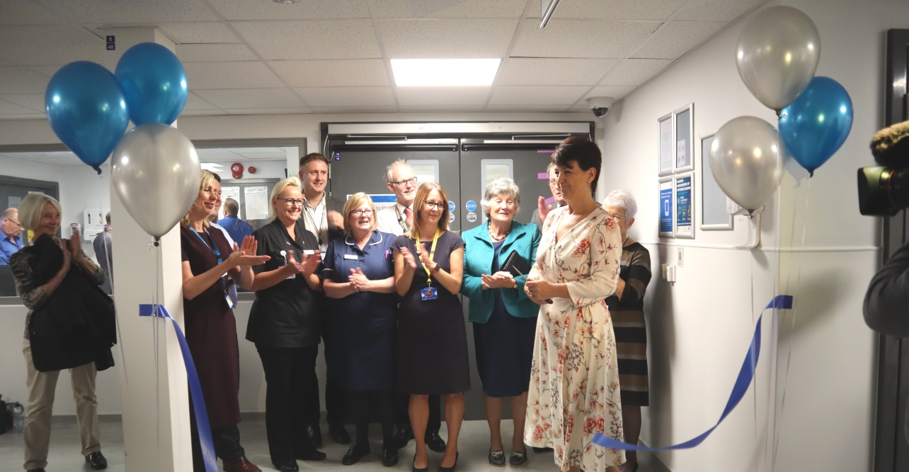 The new state-of-the-art acute assessment unit has now reached full completion, and was officially opened by Jo Churchill, MP.