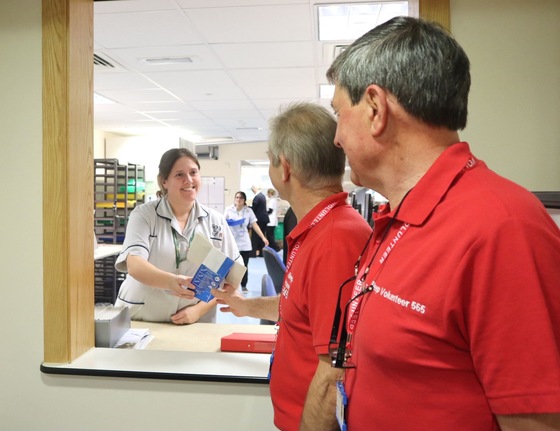 Bleep volunteers support ward staff and the pharmacy team to deliver patients their take home medication