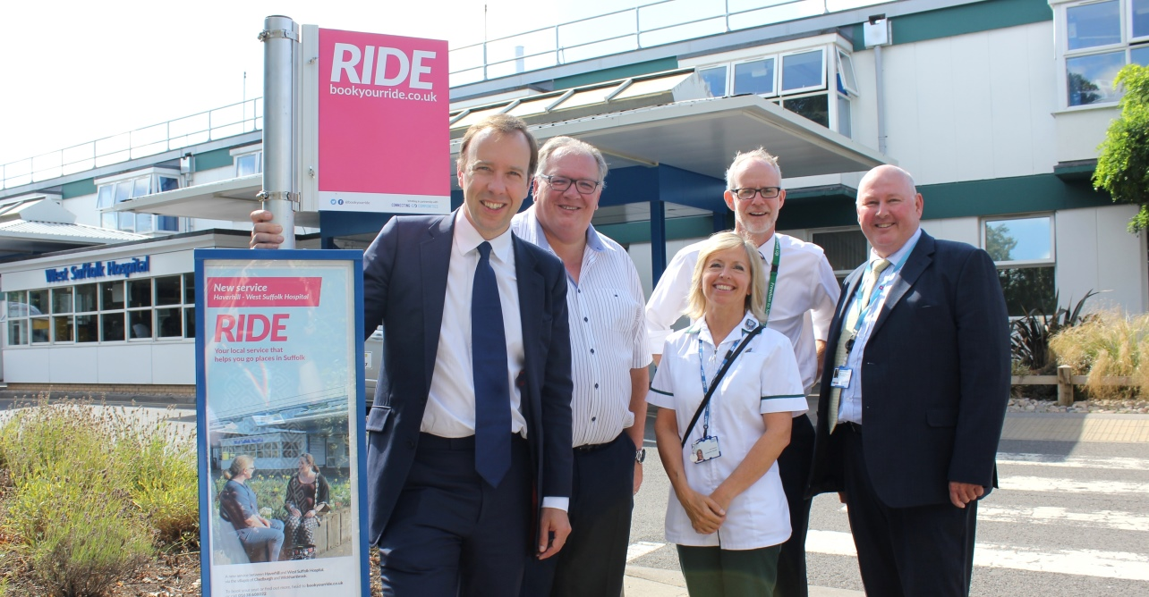 Passengers with concessionary bus passes are now able to travel free on the pre-bookable bus service connecting Haverhill and its surrounding villages to West Suffolk Hospital.