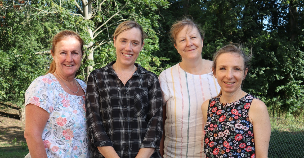 (Left to right) Four of the six WSFT community matrons - Sheila Burns, Kate Foxwell, Alison Salmon and Sandra Webb.