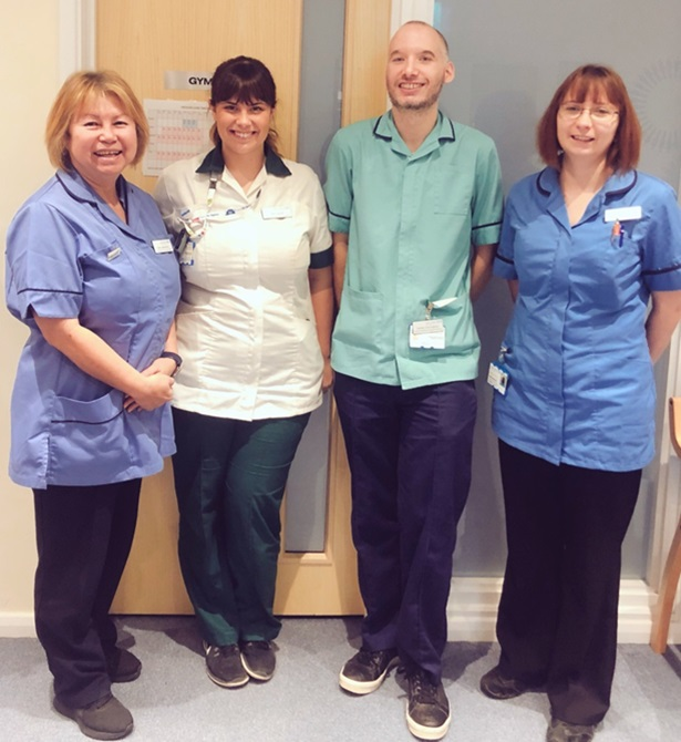 The West Suffolk Lymphoedema Service team. Left to right: Kate Laybourne, lymphoedema specialist nurse, Jess Davies, lymphoedema clinical lead, Stefan Currington, lymphoedema assistant practitioner, and Laura Beaumont, lymphoedema specialist nurse.