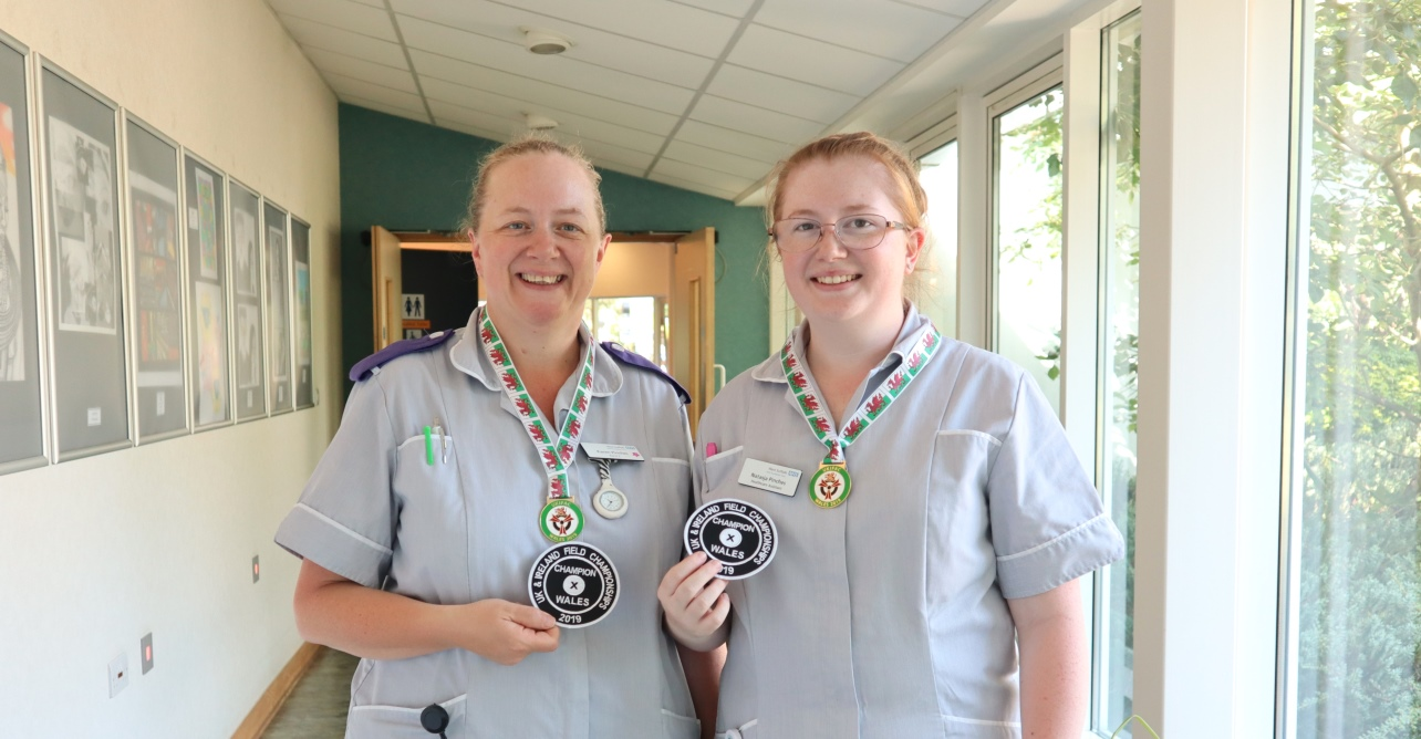 Left to right: Karen and Natasja Pinches with their field archery medals from Wales, ready to compete in the European Championships.
