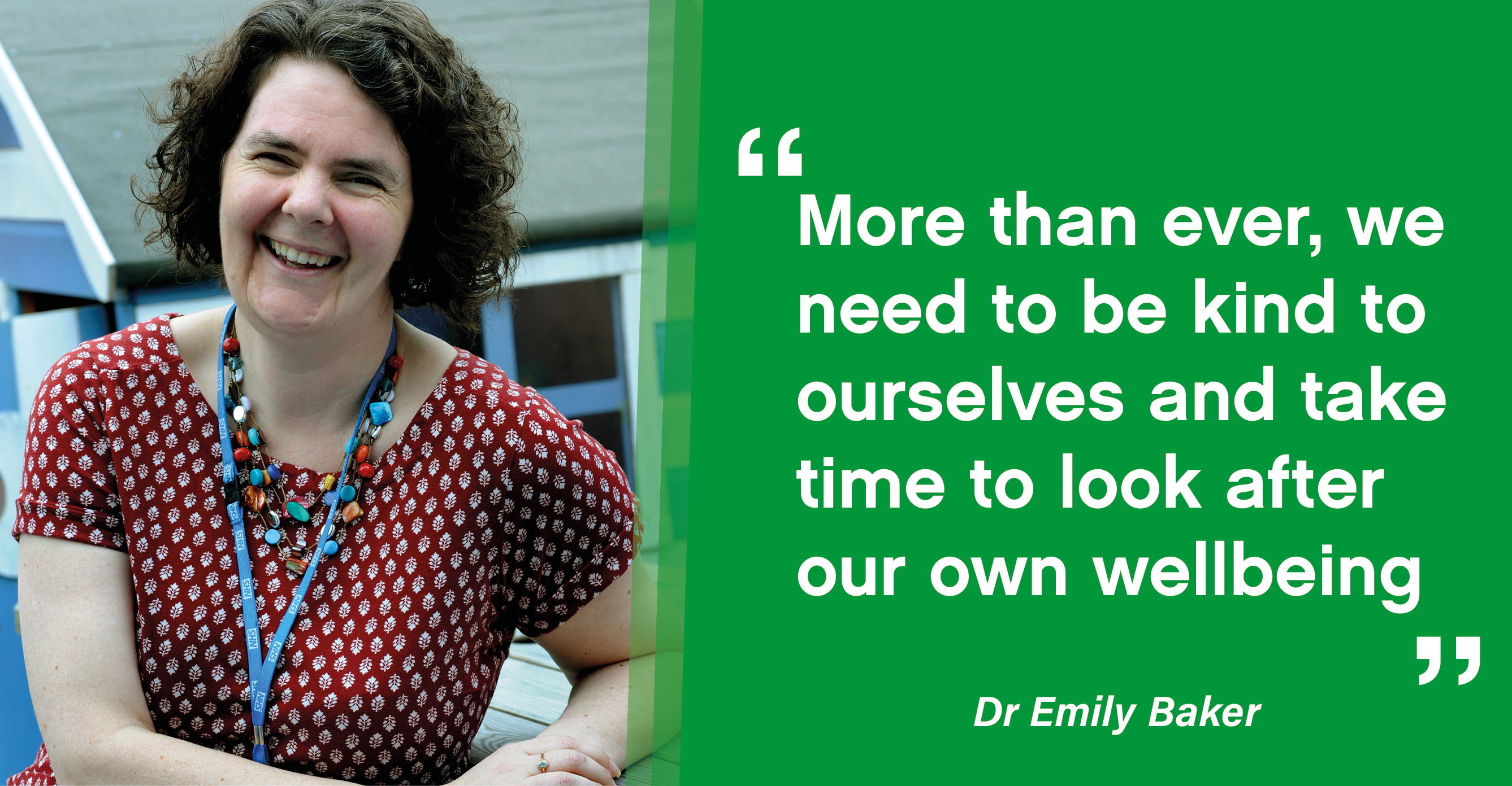 Dr Emily Baker, consultant clinical psychologist.