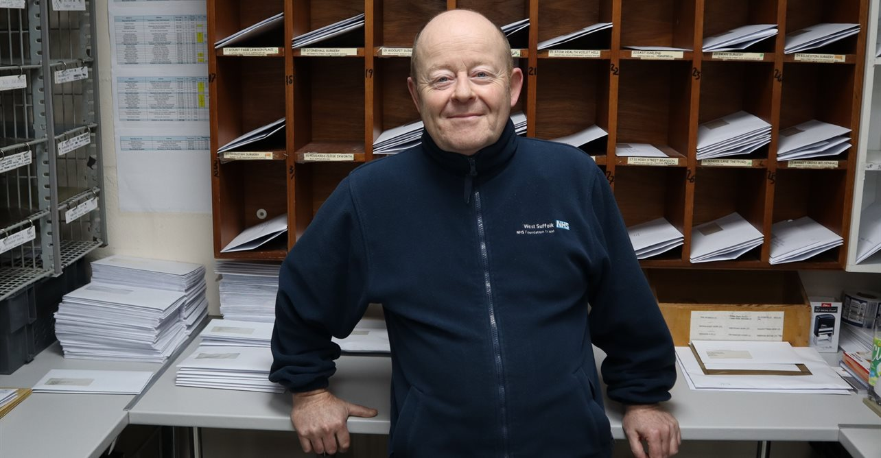 Howard Clayton is retiring after 12 years as a postman at the Trust
