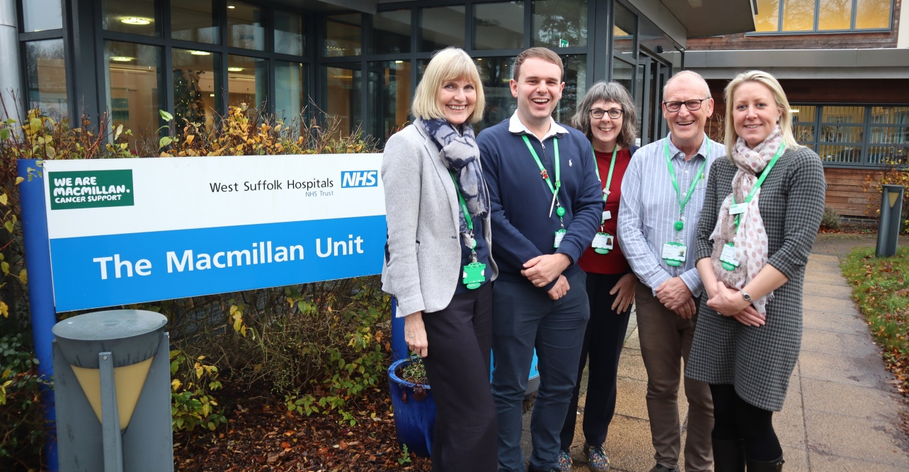 The new Macmillan cancer care navigator team, ready to support people newly diagnosed, living with or beyond cancer who are aged 18 and over across the west Suffolk area.