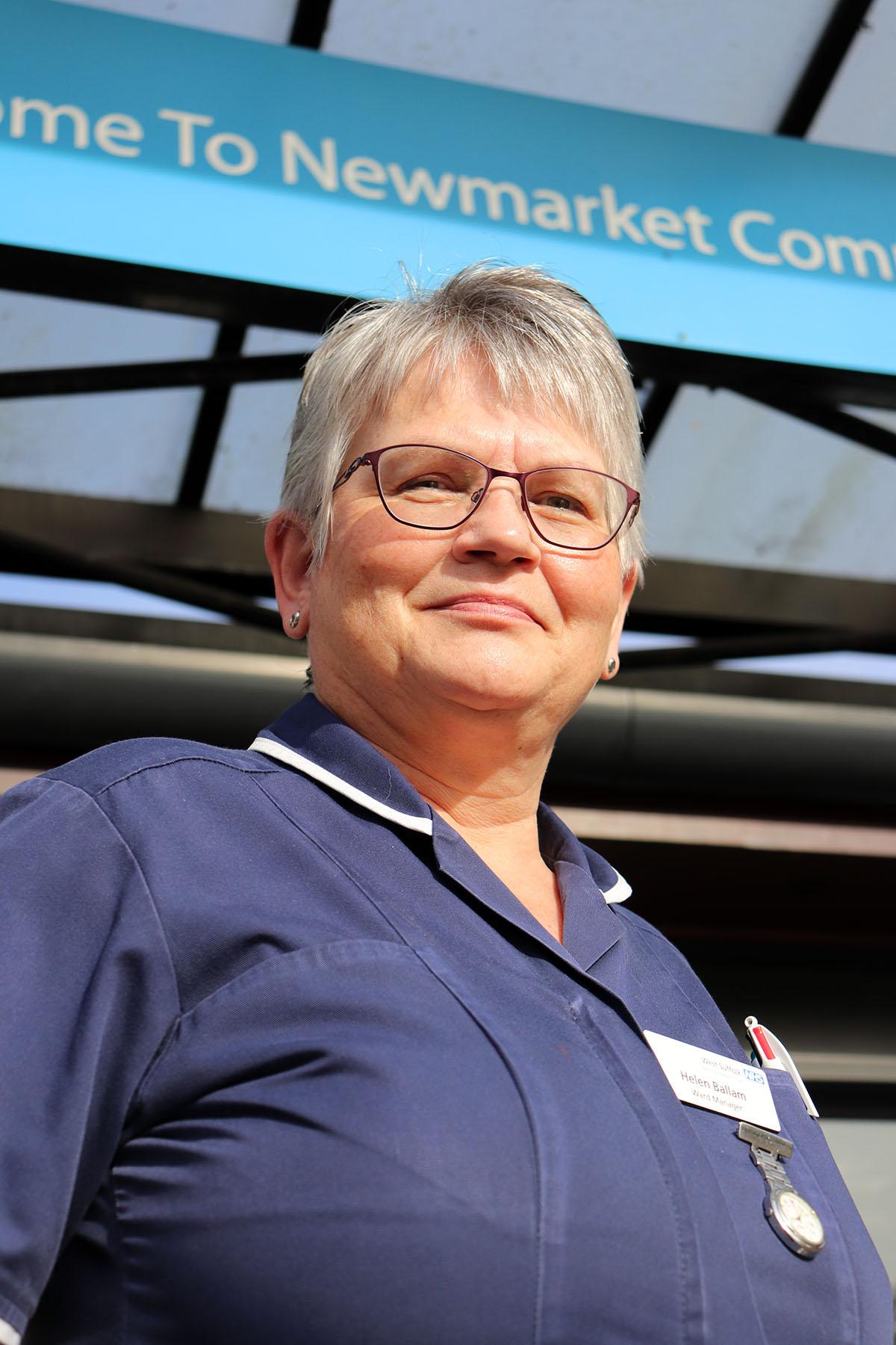 Newmarket Hospital's Rosemary Ward manager Helen Ballam