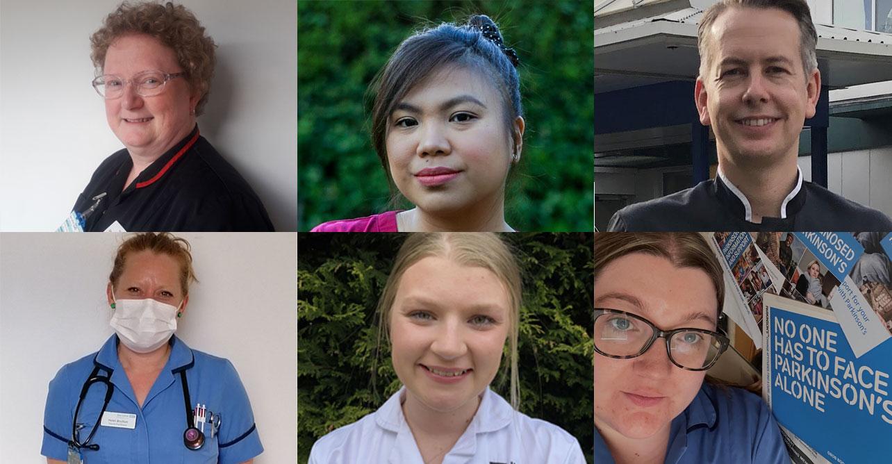 Clockwise from top left: Amanda Keighley, Archie Libero, Dan Spooner, Sarah-Jayne Moore, Molly Ashworth, Helen Boulton